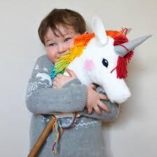 diy felt rainbow unicorn hobby horse easy to make toy project perfect handmade gift
