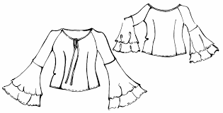 Sleeves Pattern Inspiration Blouse With Flared Sleeves Sewing Pattern 48 Madetomeasure
