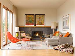 living room without coffee table