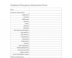 Emergency Medical Information Form Template Word Templates