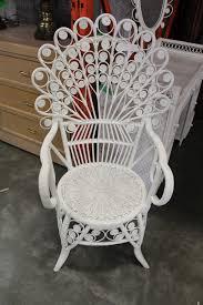 white wicker chair. Image 1 : FANCY WHITE WICKER CHAIR White Wicker Chair