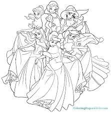 disney princess coloring sheets all princesses pages free