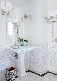 Floor And Decor Subway Tile Bathroom Bathrooms Decor Pedestal And White Subway Tiles Hexagon 16