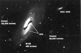 ngc 4258 this makes it similar to the central engines in other active galaxies see the diagram below from that article