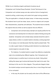 high school cover letter comparing and contrasting essay example   high school argumentative essay examples high school examples of persuasive cover letter comparing