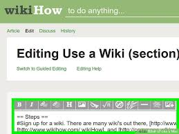 Edit Wiki How To Use A Wiki 7 Steps With Pictures Wikihow