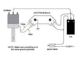 installing your new hei system connect the wiring per the diagram connect the two wires from the coil to the hei module and the two wires from the distributor to the hei module