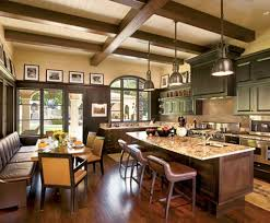 Country Decor For Kitchen Ravishing Country Spanish Kitchen Decor With Exposed Wood Ceiling