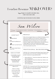 Teacher Resume Template For Word Cv Elementary How To Insert A In