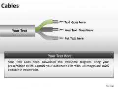 cables powerpoint templates backgrounds presentation slides ppt ppt slides 3 wires cables diagram powerpoint templates