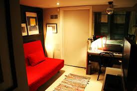 ... Interesting Ideas For Basement Bedroom Decoration Design : Breathtaking  Image Of Basement Bedroom Decoration Using Red ...