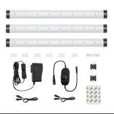 Kohree LED Under Cabinet Lighting, Dimmable Closet Lights 3pcs ...