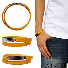all ten colors of bracelet men leather leather new work bangle italian leather bracelet accessories black