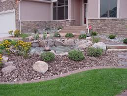Corner Garden Design Impressive Interior Stone Landscaping Ideas Photo Of Landscaping Stone Ideas