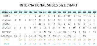 Converse Shoes Size Chart Korea