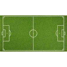 green grass soccer field. Green Grass Soccer Field F