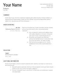Free Download Resume Builder Free Download Resume Templates Word 7
