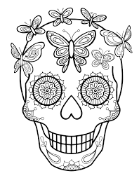 Day Of Dead Girl Coloring Pages The Page And Viettiinfo