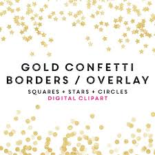Party Borders For Invitations Gold Confetti Borders Clipart Easter Party Clip Art Glitter Party Invitation Social Media Overlay Gold Mothers Day Clipart Commercial