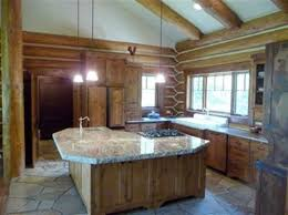 Log Cabin Kitchen Decor Log Home Kitchen Islands Kitchen Islands Kitchen Designs Homes