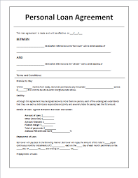 Personal Loan Contract Sample