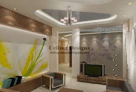 modern pvc stretch ceiling fol a small living room with lighting and crystal chandelier