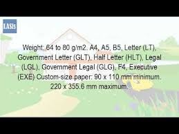 executive paper size what is lgl paper size youtube