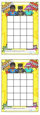 Twinkl Resources Superhero Sticker Stamp Reward Chart