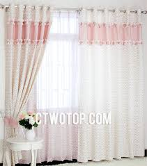 Interior, Girls Favorite Floral Style Plaid Combination Bedroom Curtains  Marvelous Quality 8: Girls Bedroom