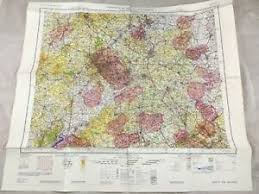 Details About 1966 Vintage Military Map Of East West Midlands Topographical Flight Chart Raf