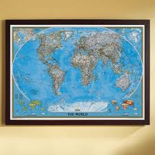 map of decor vintage style world map framed wall decor pier 1 imports for art