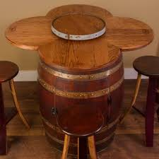 wood barrel furniture. Wine Barrel 6 Piece Dining Set Wood Furniture
