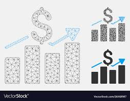 2d Bar Chart Sales Bar Chart Mesh 2d Model And Triangle