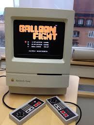 Raspberry Pi Game Cabinet I Built A Small Nes Arcade Machine Out Of A Macintosh Classic A