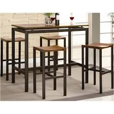 150097 coaster furniture atlas black 5 pc counter height dining table set