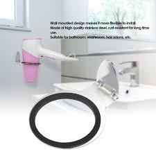 hair dryer holder wall mount hair dryer holder rack steel hair dryer stand bathroom storage organizer hanger s tomtop