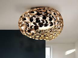 narisa rose gold large flush ceiling light 266822n