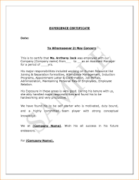 Certificate Of Employment Sample For Housekeeper Copy Sample Format