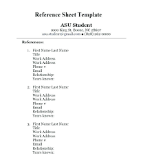 References Sheet Template Inspiration Sample Reference List For Resume Format References Professional Page