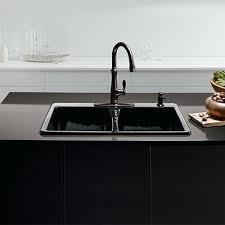 Awesome Overmount Sink Kitchen Ruvati Rvh8050 Drop In Overmount 16 30 Inch Drop In Kitchen Sink