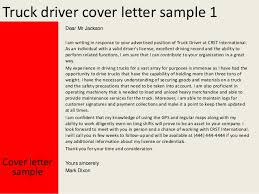 Truck Driver Cover Letter Samples Truck Driver Cover Letter