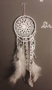 How Dream Catchers Are Made DIY Dream Catcher Made with wire ring and cloth doily from 17