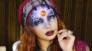 gypsy witch halloween make up tutorial lingywashere
