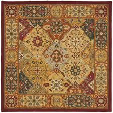 square area rugs beautiful safavieh heritage multi colored wool area rug 4 square