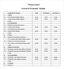 simple budget proposal template budget proposal format parlo buenacocina co