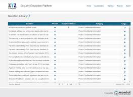 security awareness knowledge assessments wombat security security awareness library of questions