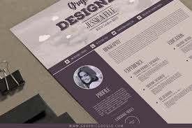 Free Creative Design Templates Free Creative Vintage Resume Design Template For
