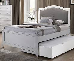 Kirsten White Wood Twin Bed by Furniture of America