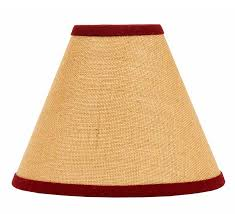 burlap red lamp shade by raghu