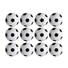 Mini Soccer Ball Decorations Impressive Amazon Table Soccer Foosballs Replacements Mini Black And White